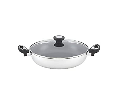 """Farberware New Traditions 11"""" Stainless Steel Aluminum Nonstick Covered Everything Pan"""