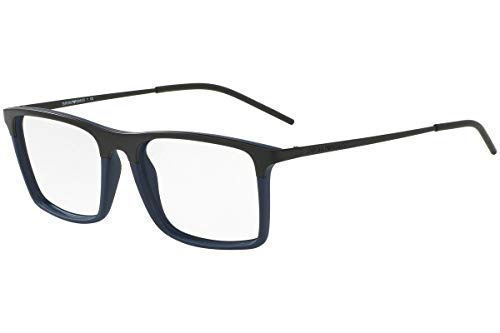 Armani EA1058 Eyeglass Frames 3168-53 - Matte Black/Matte Blue