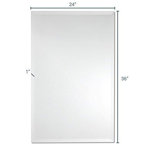 Frameless rectangle wall mirror bathroom vanity for Frameless rectangular bathroom mirror