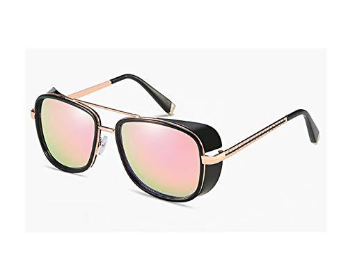 2019 3 Sunglasses Men Mirrored Designer Brand Women Glasses Vintage Red Lens Sun Glasses ()