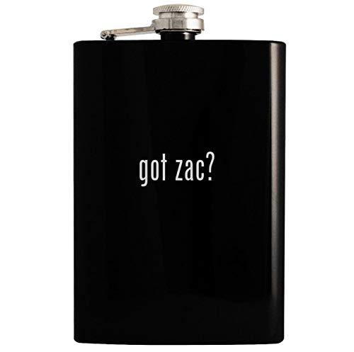got zac? - Black 8oz Hip Drinking Alcohol Flask