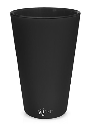 Silipint Silicone Pint Glass Set, Patented, BPA-Free, Shatter-proof Silicone Cup Drinkware (Single Bouncy Black)