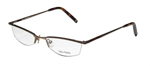 Vera Wang V106 Womens/Ladies Designer Half-rim Eyeglasses/Eyewear (52-18-140, Sand / - Half Prescription Glasses Rim
