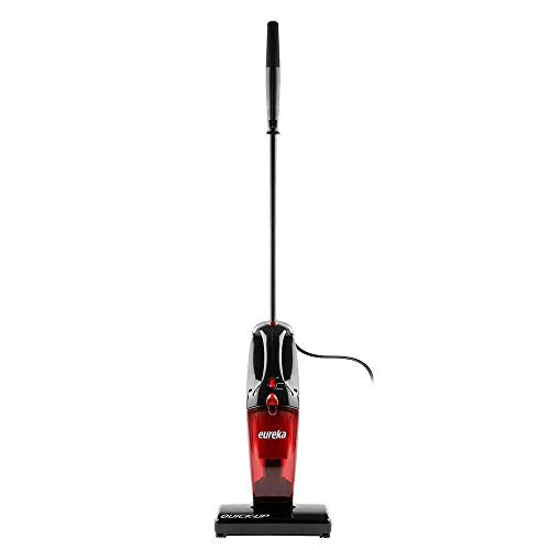 Eureka 169J 2-in-1 Quick-Up Bagless Stick Vacuum Cleaner for Bare Floors and Rugs, Red (Renewed)