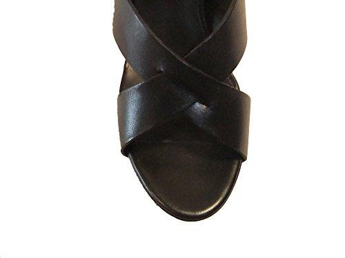 ASH Damen Keilplateau Sandalette Lucy Leder 75100 black Größe 39