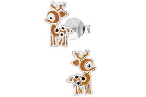 925-Sterling-Silver-Hypoallergenic-Christmas-Reindeer-Holiday-Stud-Earrings-for-Girls-Nickel-Free