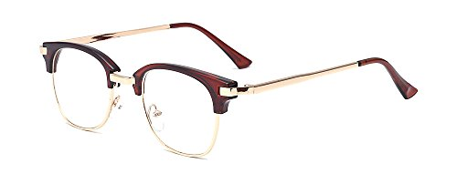 ALWAYSUV Women/Men Vintage Nerd Fashion Clear Eyeglasses Clear Lens Retro Eye Glasses Frames ()