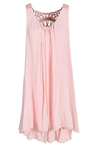 Italienische Mode - Robe - Tunique - Femme Orange