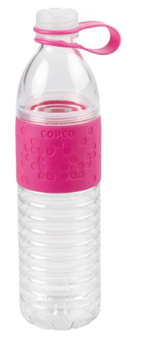 (Wilton Copco 2510-2192 Hydra Reusable Tritan Water Bottle with Spill Resistant Lid and Non-Slip Sleeve, 20-Ounce,)