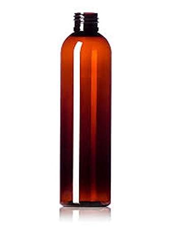 7cc577126d98 Amazon.com: 6 Pack 8 oz Empty Amber PET Plastic Bullet Round Bottles ...