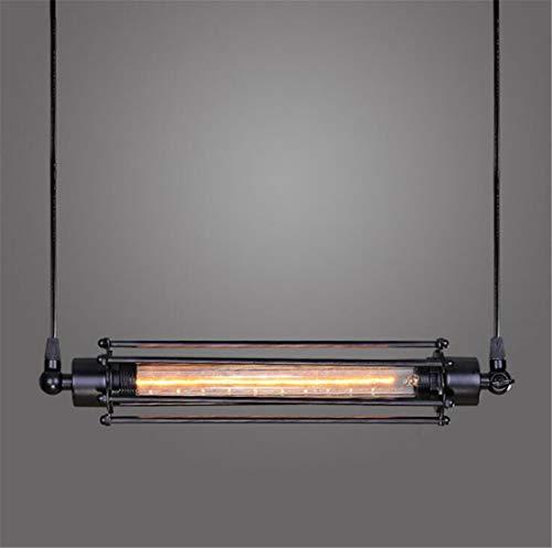(MSDSilk Vintage Industrial Edison Pendant Lamp Flute Chandelier Hanging Light Cage Pendant Lamp (1PC, Cross Section Without Bulb))