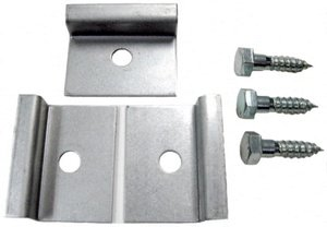 Sunglo 27020 A242 Series - Floor Clamp Kit - (Pack of 3), Stainless Steel Finish