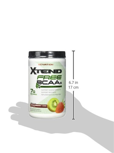 51YtNCrS7xL Scivation Xtend FREE BCAA Powder, Strawberry Kiwi, 30 Servings, No Artificial Colors, Flavors, or Sweeteners