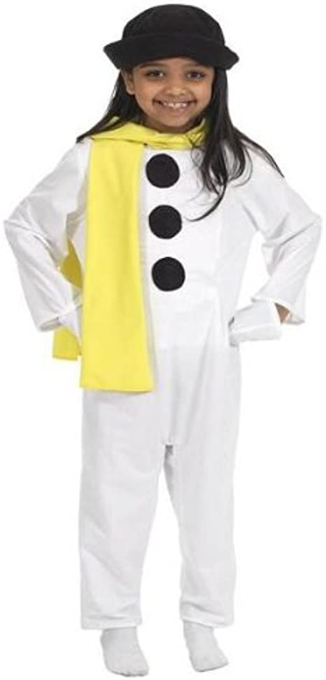 Childrens Snowman Fancy Dress Christmas Costume Girls Kids Childs Outfit L