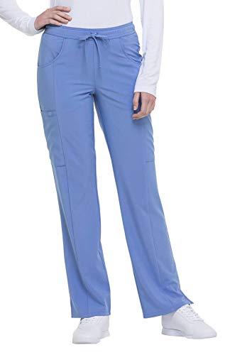Dickies EDS Essentials Women's Drawstring Cargo Scrub Pant X-Small Ciel (Essentials Drawstring Pants)