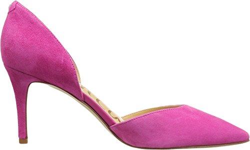 Sam Edelman Frauen Telsa D'Orsay Pumpe Hot Pink Kid Wildleder