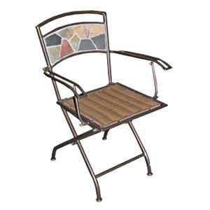 Deeco DM-10191 Rock Canyon Folding Two Outdoor Dining Chair ( (Rock Deeco)