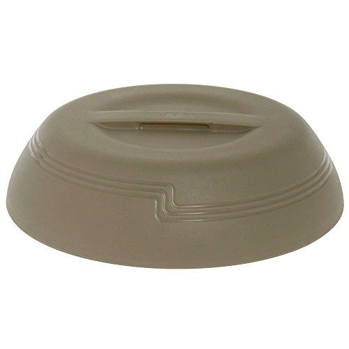 Cambro Shoreline Collection Low-Profile Wheat Beige Plastic Insulated Dome - 10 3/8Dia x 2 3/4H by CAMBRO MFG COMPANY