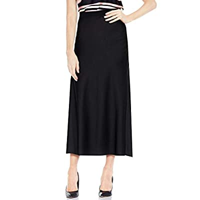 Vince Camuto Women's Side-Zip Maxi Trumpet Skirt (Rich Black, 2) at  Women's Clothing store