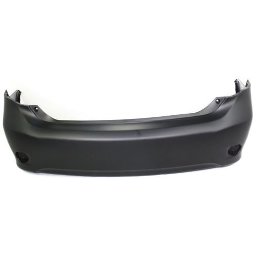 Perfect Fit Group REPT760101P - Corolla Rear Bumper Cover, Primed, W/O Spoiler Hole, Japan Built Bumper Cover Spoiler