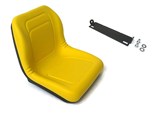 HIGH BACK SEAT w/ Pivot Rod Bracket John Deere 445 455 G100 SST16 SST18 Yellow by The ROP ()