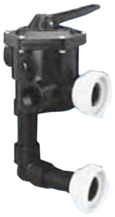 Pentair 18201-0200H ABS 6-Position Union Connection Design Slide Multiport Valve, 2-Inch Port Size by Pentair