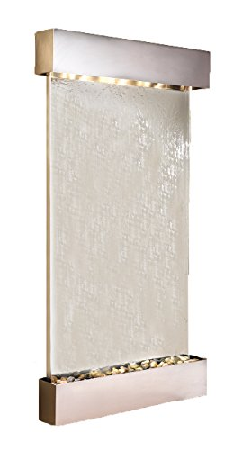 (Summit Falls Water Feature with Stainless Steel Trim and Square Edges (Silver Mirror))