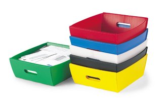 Corrugated Plastic Tray 13-1/2''x 12''x4-1/2''H (3 Pack) by Charnstrom