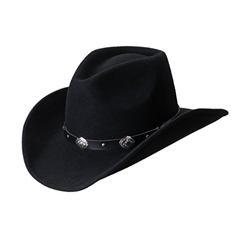 Hondo Crown Wool Felt Cowboy Hat by Turner (High Crown Cowboy Hat)
