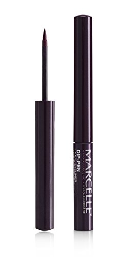 Marcelle Dip-Pen Liquid Eyeliner, Purple Rain, Hypoallergenic and Fragrance-Free, 0.05 fl oz ()