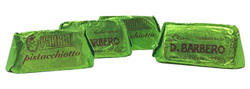 D. BARBERO Pistachio Gianduiotto Candy (Pistachio and White Chocolate Sweet Praline), 26 Pieces