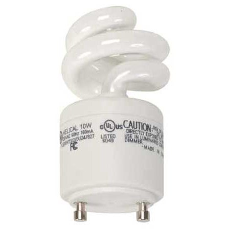 (GE LIGHTING FLE10HT3/2/GU24 Plug-In CFL 10W Non-Dim 2700K 10 000 hr WLM)