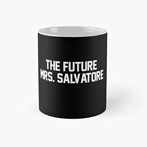 (The Future Mrs. Salvatore- White Mug, damon salvatore Cup, 11 Ounce Ceramic Mug, Perfect Novelty Gift Mug, Funny Gift Mugs, Funny Coffee Mug 11oz, Tea Cups)