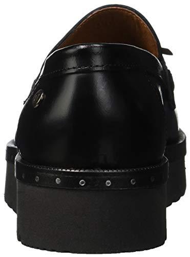 Mocassino nero K299 Trussardi Micro Studs Women''s Black Tassels Jeans Loafers g4UqE8waU