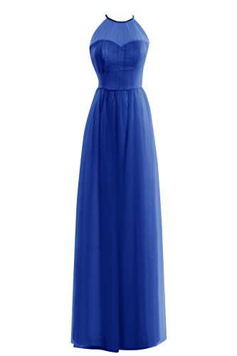 Women's Tulle Formal Dresses Blue Floor Bridal Halter Prom Length Royal Bess Tx5qSq