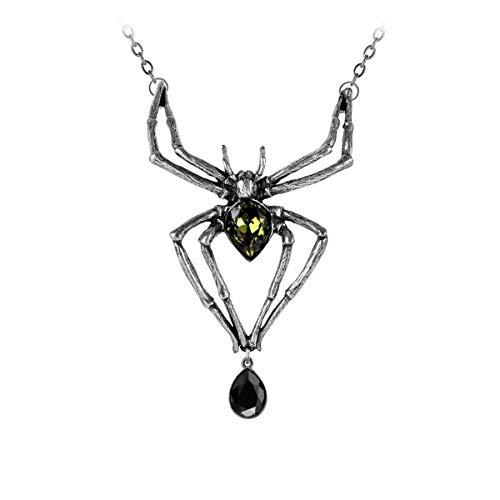 Tarantel Gothic Anhänger Spinne Spider Spinnen Amulett Collier Alchemy