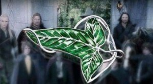 [Lord of the Ring Aragorn Barahir Brooch Costume Jewellery Green Leaf Pin] (Lord Of The Rings Costumes Aragorn)