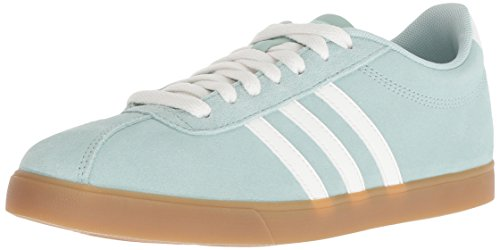 adidas Women's Courtset Sneaker ash green/Cloud White/ash Green, 8.5 M US