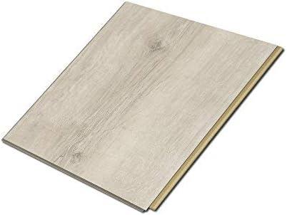 Cali Bamboo Cali Vinyl Plus Cork Backed Vinyl Floor Extra Wide White Aspen Wood Grain Sample Size 5 3 4 L X 7 1 8 W X 7mm H