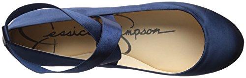 Mandayss Ballerinas Navy M US für Damen Satin Simpson Jessica H6xwqFH