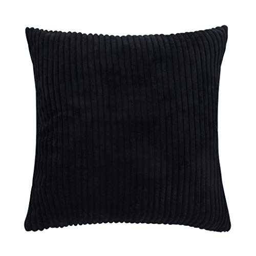 famibay Square Solid Cushion Cover with Invisible Zipper for Sofa,Decorative Throw Pillow Case Velvet Corduroy Pillow Covers Decorative 20x20 (20