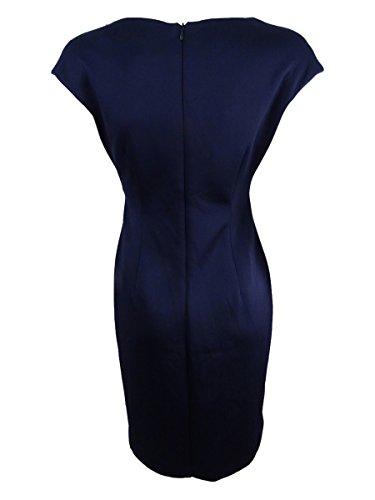 Scuro Blu Stampata Donne Rosa Tubino 4p Delle Collegate Colore Petite Contrasto pxT68wqOBW