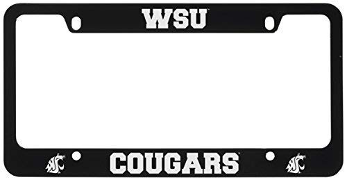 Washington State University -Metal License Plate Frame-Black