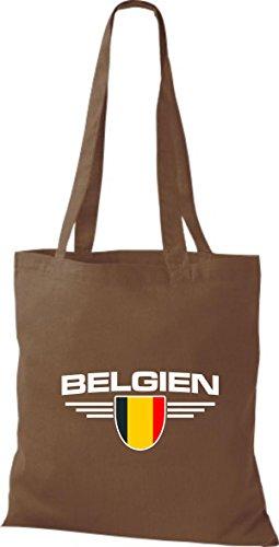 Escudo Marrón Land Bolsa Países Claro Bélgica Shirtstown De Tela 6RzfxTq
