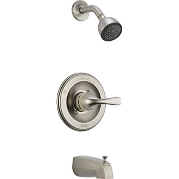Delta T13420-SS Monitor 13 Series Tub and Shower Trim, Stainless ...