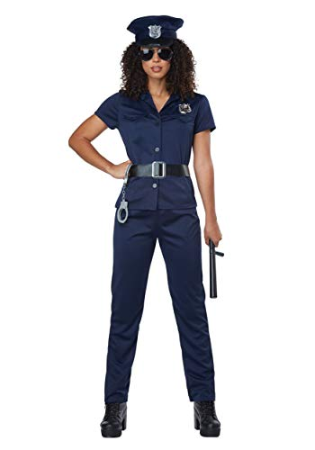 Correctional Officer Costume For Halloween (California Costumes Women's Police Woman - Adult Costume Adult Costume, -Navy,)