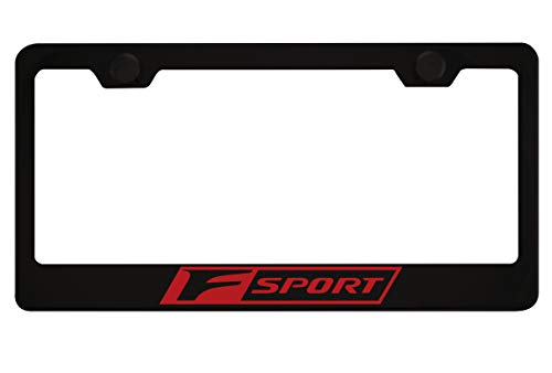 Lexus F Sport Black License Plate Frame with Caps for sale  Delivered anywhere in Canada