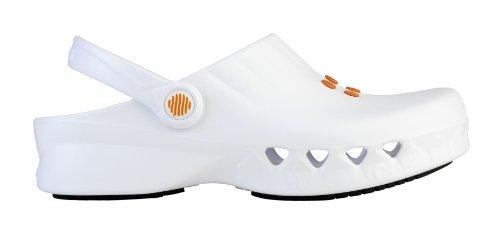 Nube - Calzado de uso profesional WOCK - Antideslizante; Antiestático; Ultraligero; Protección contra vertidos; Reducción de impactos Blanco