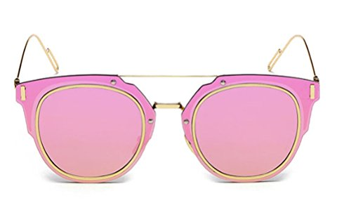 GAMT Desginer Vintage Sunglasses Retro Full-rim Metal Frame Round Lens Fashion Style - Brow Sunglasses Bar