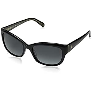 Kate Spade Women's Johanna Rectangular Sunglasses, Black, 53 mm